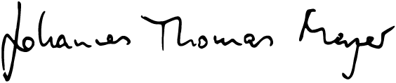 signature:Johannes Thomas Meyer
